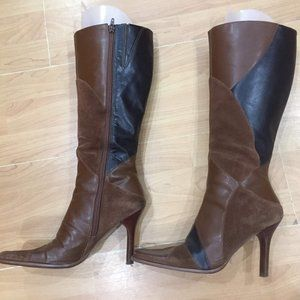 Aldo tall genuine leather/suede boots